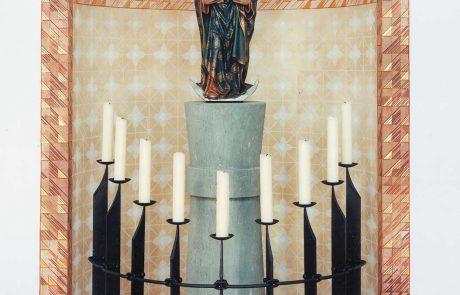 St. Dionysius Skulptur restauriert von der Restaurierungen Berchem GmbH