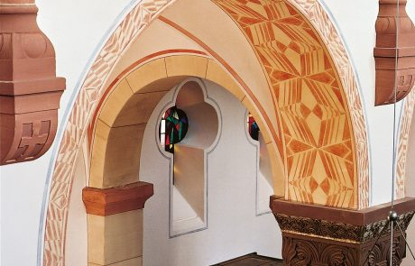 Torbogen in der Gemeinde St. Michael in Siegen restauriert von der Restaurierungen Berchem GmbH