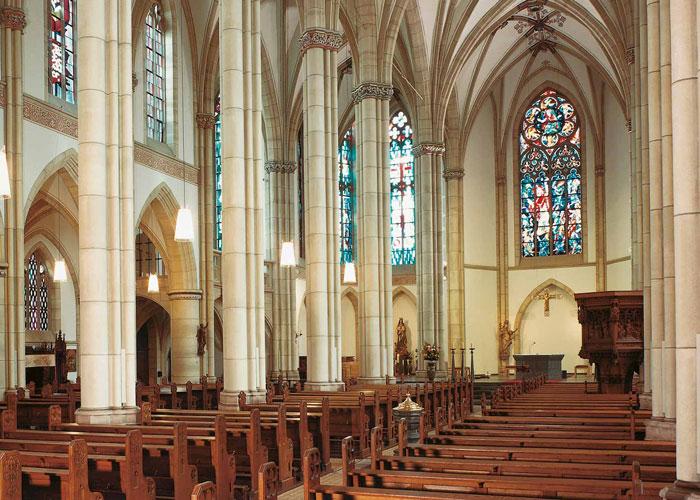 Restaurierte Kirche von der Restaurierungen Berchem GmbH